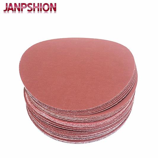 JANPSHION 40ks červený kulatý brusný papír Samolepicí brusný - Brusné nástroje - Fotografie 3