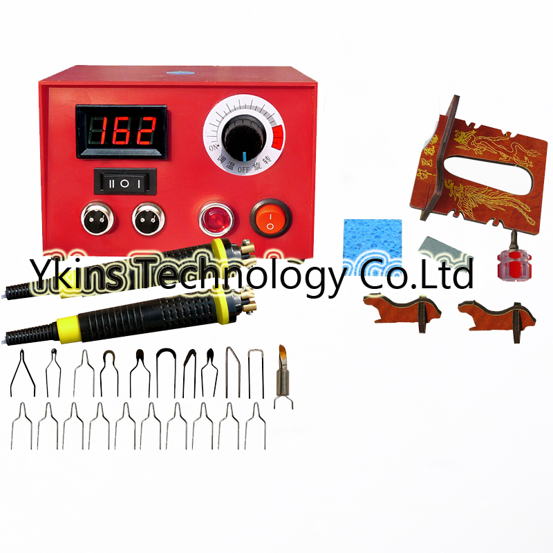 Digital Temperature 100W Multifunction gourd pyrography machine+20pcs Pyrography iron Tips+Soldering iron Wooden gourd crafts free shipping multifunction gourd pyrography machine pyrography pen rendering pen 20pcs pyrography iron tips wooden gourd crafts