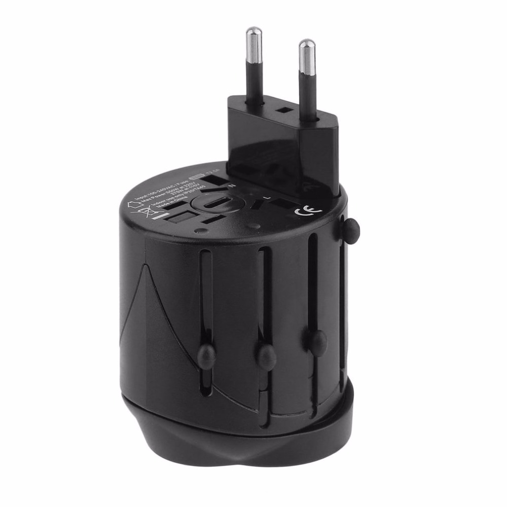 Universal Power Plug Converter Travel Mini Portable Adapter Electric Plugs Sockets Converter USB Charging Socket