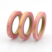 New 3pcs Slim Pink Arrow Foil Washi Tape set 5mm*10m Split line masking tape decoration Stickers Stationery school supplly