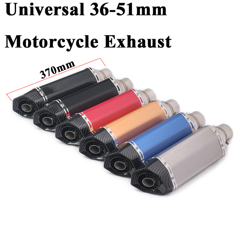 51mm Motorcycle Akrapovic Exhaust Escape Silencer Modified Muffler DB Killer Removable For NMAX 155 PCX 125 R15 CBR150 GSXR150