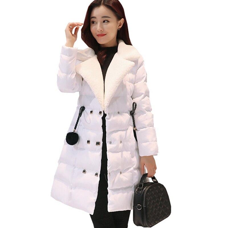 Women Fashion Parka 2017 Winter New Arrival Long Sleeve Thicken Warm Female Long Coat Casual Slim Hot Sale Lady Parkas GJL02