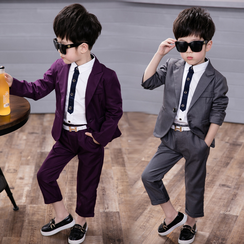 2019 Boys Suits for Weddings Kids Formal Wedding Blazer Boy Tuxedo 2-10Y