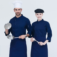 Chef Overalls Men's Long Sleeve Kitchen Work Clothes After Kitchen Clothes Custom Catering Hotel Restaurant Clothing