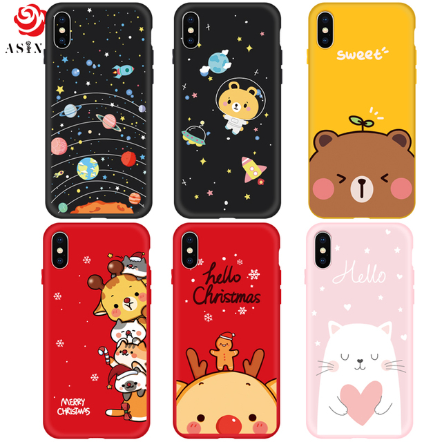 d697db4a6b ... ASINA Silicone Cartoon Case For iPhone X Case Cute Original Drawings  Ultra Thin 3D Relief For
