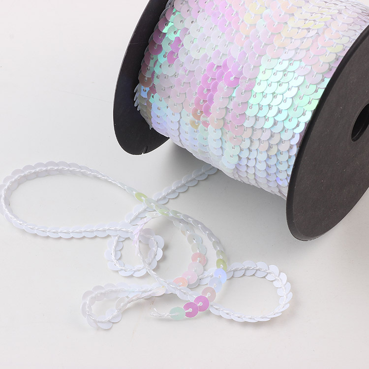 Sequin String Ribbon Roll for Crafts,Embellishments,Costume Accessories Black 6MM,100 Yard Spangle Paillette Sequins Roll Spangle Flat,String Trim DIY Projects