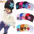Baby boy menina chapéus ajustáveis unisex da criança infantil crianças de algodão macio bonito chapéu cap estrela inverno chapéus gorros bebê acessórios