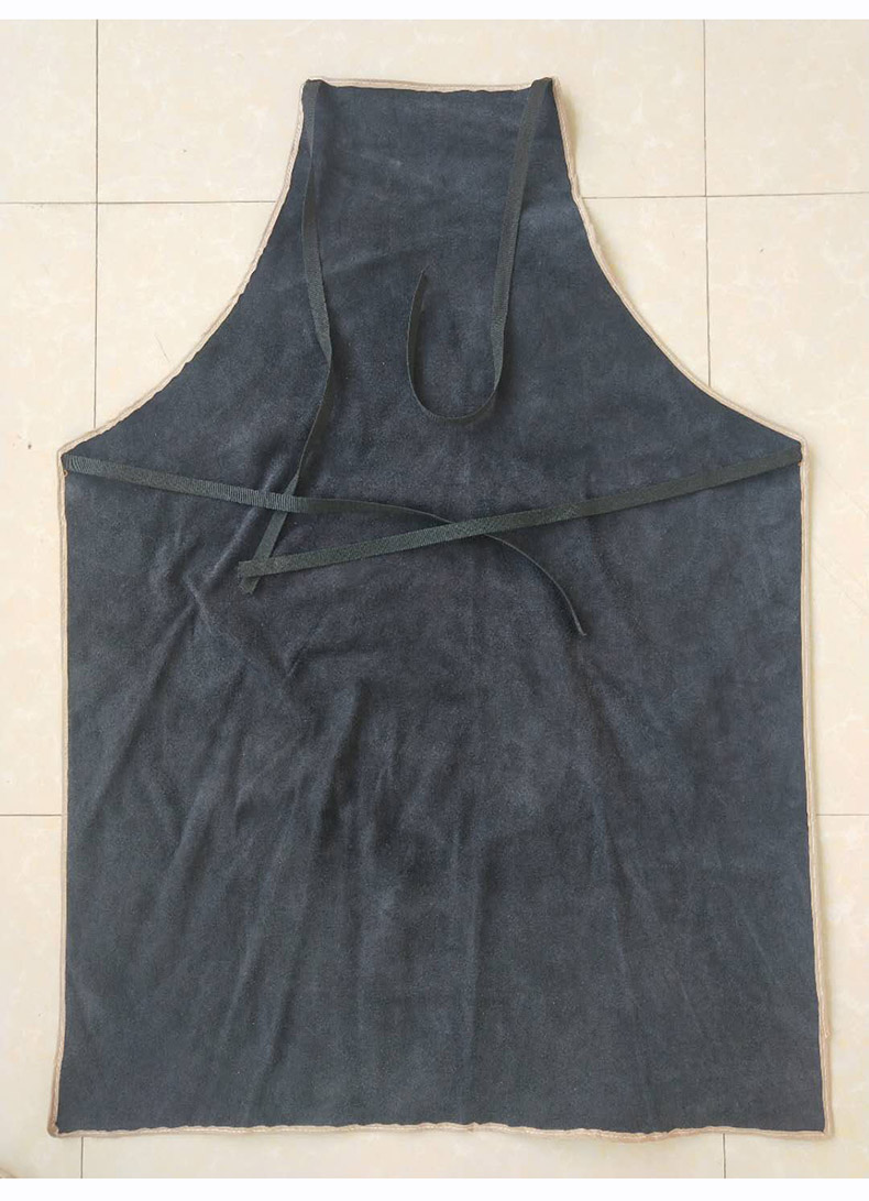 Welding Apron Heat Insulation A Whole Piece of Cow Leather Protective Aprons Flame Resistant Welders Workplace Safety Clothing (17)