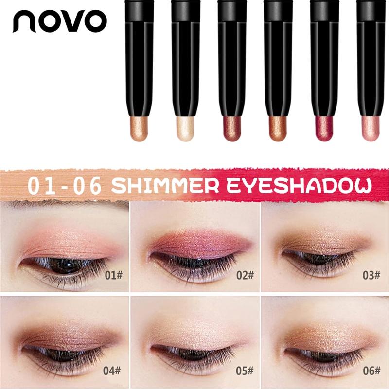 Novo Cosmetics Multi-function Beauty Makeup Pen Metallic Shimmer Eyeshadow Highlighter Bronzer and Matte Lipstick