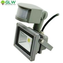 10W 20W 30W 50W 85-265V PIR Motion Sensor  LED Flood Light Outdoor Lamp Waterproof IP65 Induction Projector Light holder lcds 5058 черный