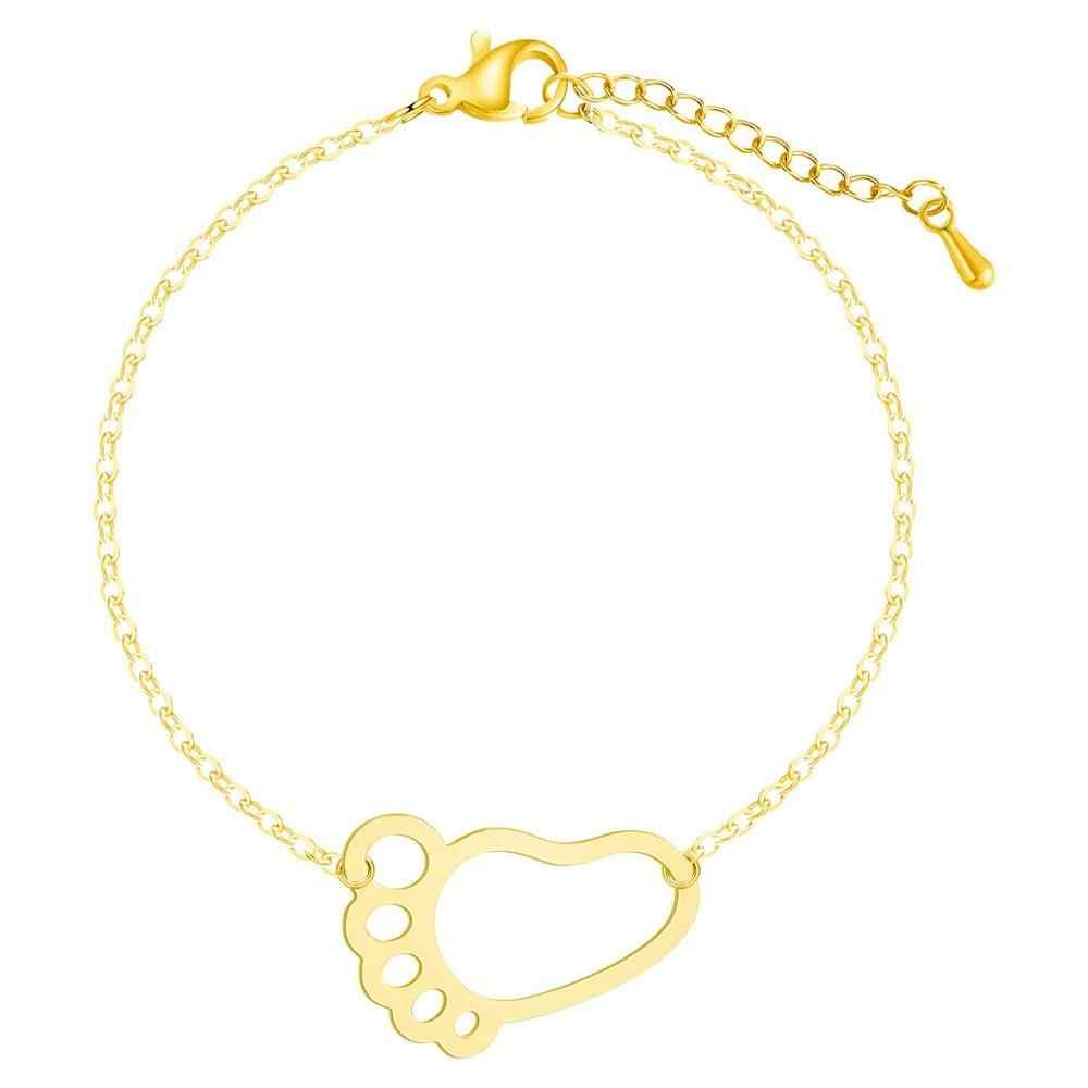 Chereda Hollow łańcuszek na kostkę Link bransoletki dla kobiet różowe złoto unikalne bransoletki dziewczyna oświadczenie kreatywne akcesoria do domu
