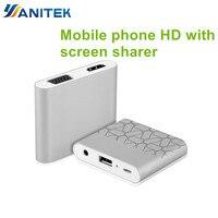 YANITEK Digital AV Adapter Phone Tablet Video Audio to HDMI TV Projector VGA For iPAD iPhone 8 5 6 7 8 Plus Samsung LG Android