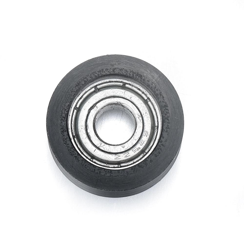 10x Black Ball Bearing Guide Pulley Rail Track Wheel 6mm*21mm*10mm