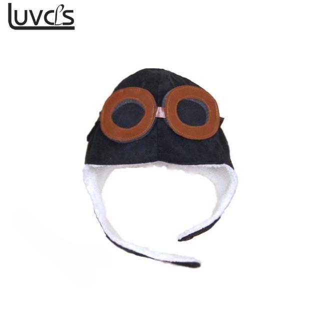2b88ec163f0 Winter Warm Baby Pilot Hat Toddlers Kids Cool Aviator Cap For Baby Boy Girl  Ear Soft Hat
