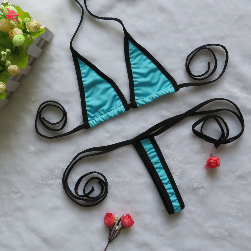 Extreme Sexy String Bikinis Set Women Mini Micro Swimsuit Swimwear Beach Sunbath Bathingsuit Thongs Biquinis G String Costumes