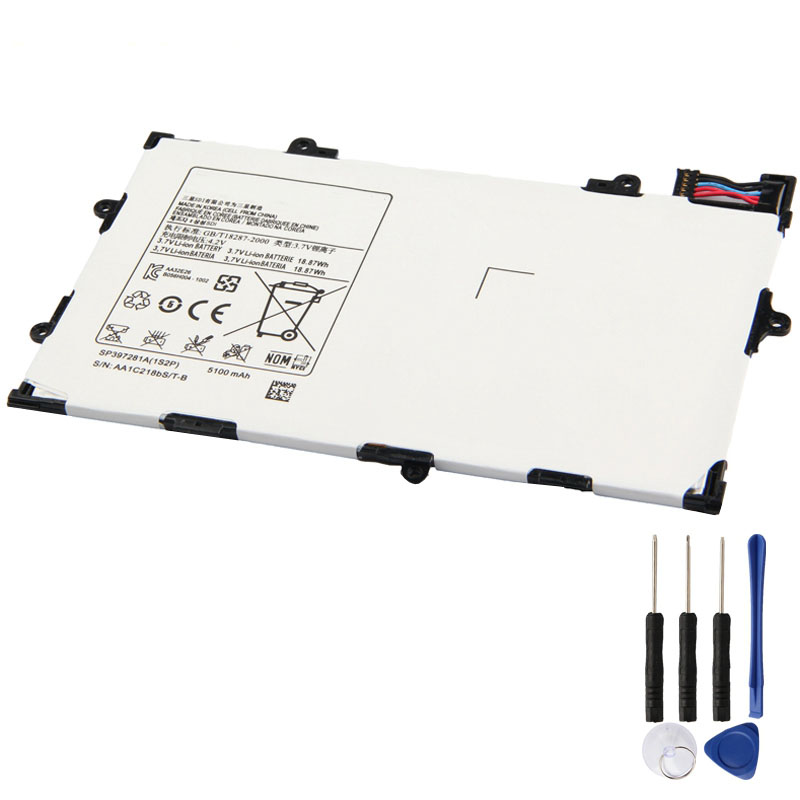 Guker Replacement Battery For Samsung Galaxy Tab 7.7 P6800 i815 P6810 Samsung Tablet Battery SP397281A <font><b>5100mAh</b></font> image