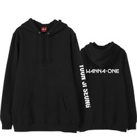 Kpop Wanna One New Arrival Member Name Printing On Sleeve Hoodies For Fans Supportive Unisex Fleece