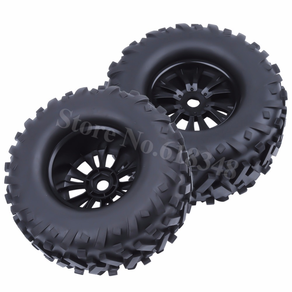 4pcs RC 17mm Hex Tires & Wheel Rims 170x85mm Foam Inserts for 1/8 Monster Truck Bigfoot Tyre HPI TRAXXAS Himoto HSP Baja 5B 4pcs set 140mm rc 1 8 monster truck tires tyre plastic wheel rims