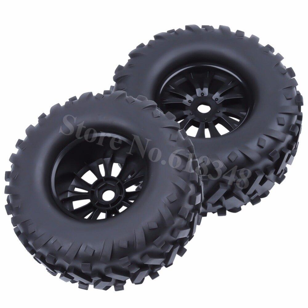 4pcs RC 17mm Hex Tires & Wheel Rims 170x85mm Foam Inserts for 1/8 Monster Truck Bigfoot Tyre HPI TRAXXAS Himoto HSP Baja 5B