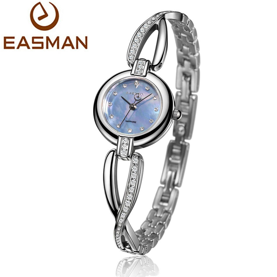 easman watch brands womens watches pearl rhinestone. Black Bedroom Furniture Sets. Home Design Ideas