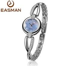 Easman marcas de relojes para mujer perla cristal pulsera del reloj del zafiro de vidrio para mujer reloj de pulsera de reloj para mujer(China (Mainland))