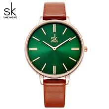 shengke brand quartz watch ladies waterproof leather watch watch fashion romantic woman watch Relogio Faminino