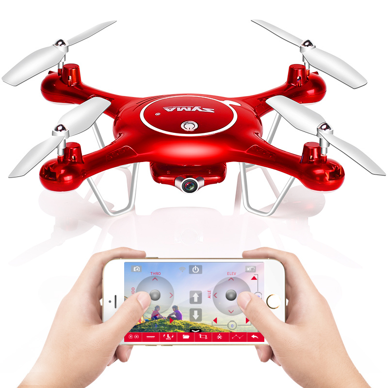 SYMA X5UW Drone with Camera FPV WiFi HD 720P Real-time Transmission Quadcopter 2.4G 4CH RC Helicopter Dron Quadrocopter Drones newest apple shape foldable wifi fpv rc drone rc130 2 4g apple quadcopter with 6axis gryo with 720p wifi hd camera rc drones