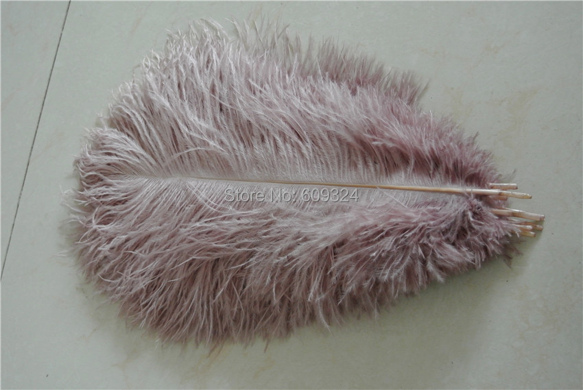 Free Shipping 100 pcs12 14inch 30 35cm dust pink Ostrich Feather Plume for wedding centerpieces wedding