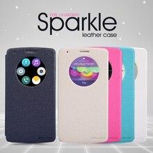 Оригинальный Nillkin Sparkle Флип кожаный с Smart View Окно задняя крышка телефона чехол для LG G3 D855 Бесплатная доставка