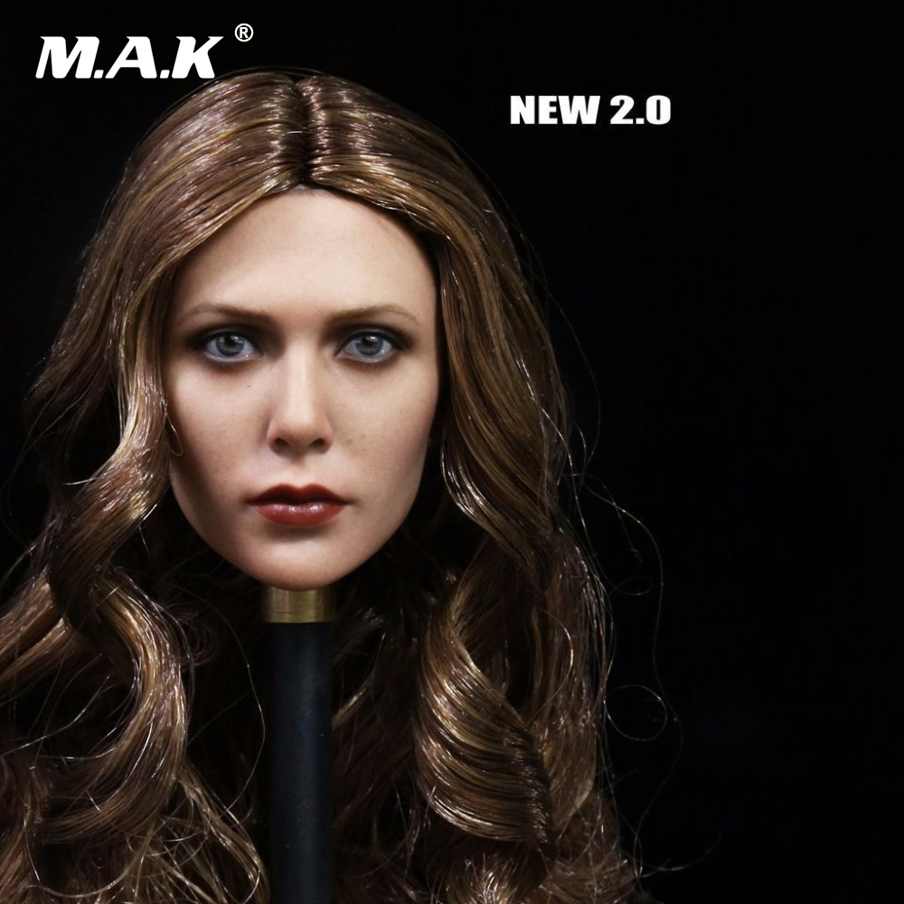 1:6 Scale Collectible Figure Elizabeth Olsen Scarlet Witch Head Sculpt 3.0 Female Head Carving Model Toys for 12'' Figure Body 1 6 scale figure captain america civil war or avengers ii scarlet witch 12 action figure doll collectible model plastic toy