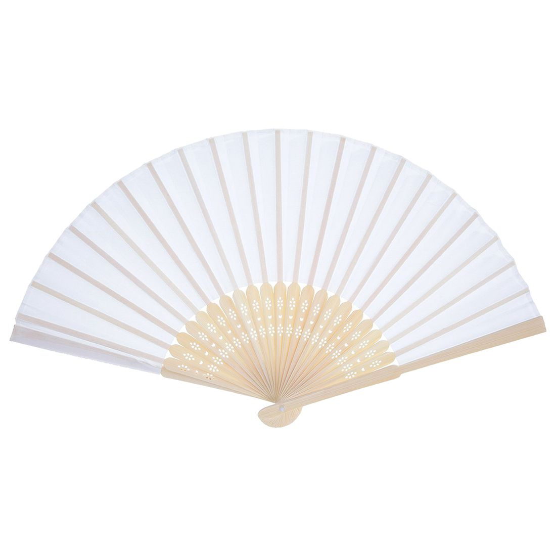 12 Pack Hand Held Fans White Silk Bamboo Folding Fans Handheld ...