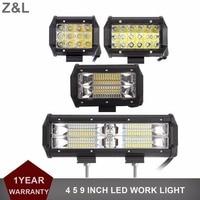 Offroad LED WORK LIGHT BAR 4 5 9 INCH SPOT FLOOD CAR SUV MOTORCYCLE 12V 24V