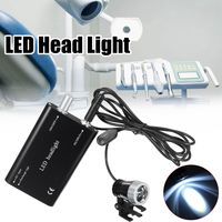 1W Portable LED Head Light Lamp Black Headlight With Clip For Dental Medical Binocular Magnifier Glasses Loupe Dentist Exams