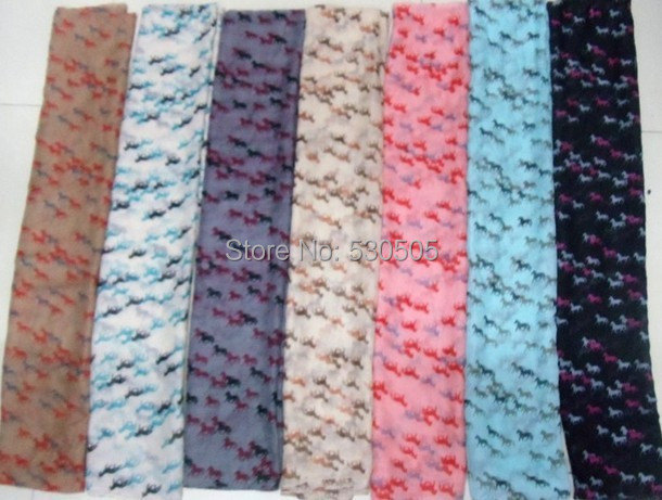 New horse Print   Scarf     Wrap   Shawl Scarfs Ladies Gift Accessories 100pcs/lot Free Shipping