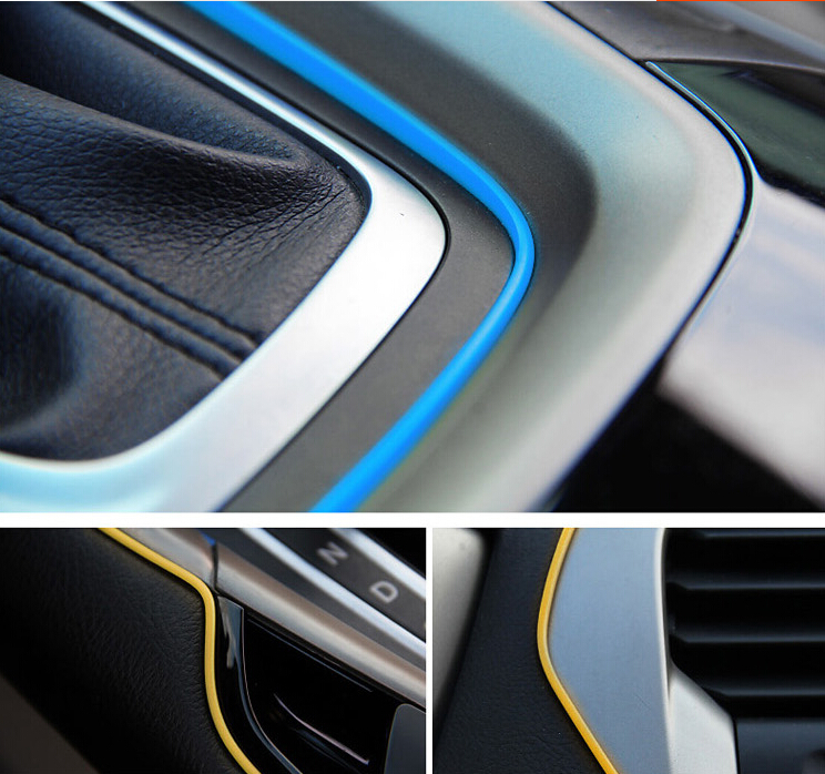 huanlisun 5metres car styling diy universal cold line flexible interior decoration moulding trim. Black Bedroom Furniture Sets. Home Design Ideas