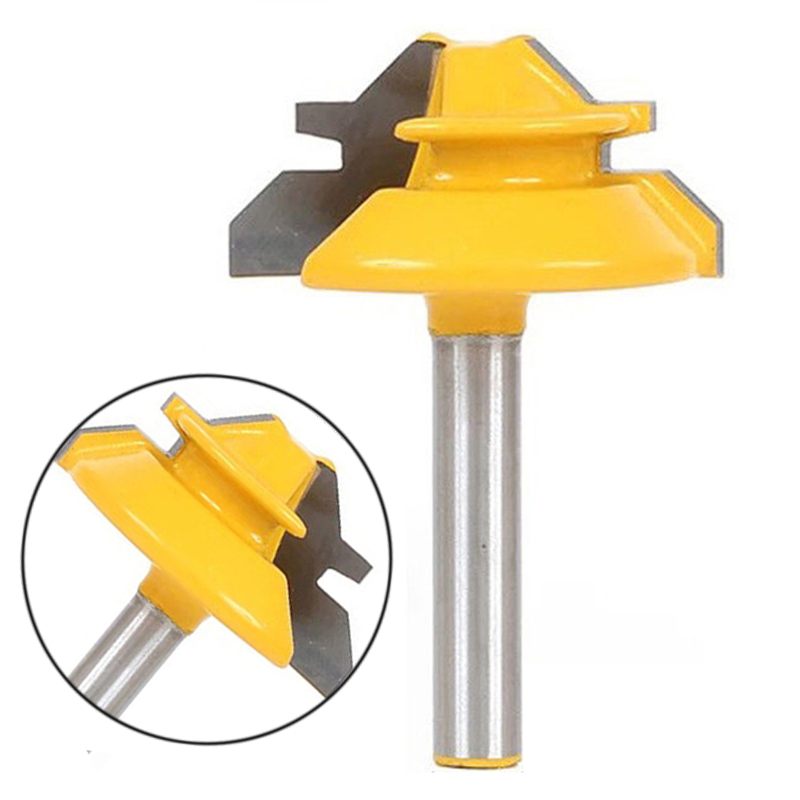 1pc New 45 Degree 1/4'' Shank Router Bits For Woodworking Cutter Engraving Tool Power Tool free shipping 10pcs 6x25mm one flute spiral cutter cnc router bits engraving tool bits cutting tools wood router bits