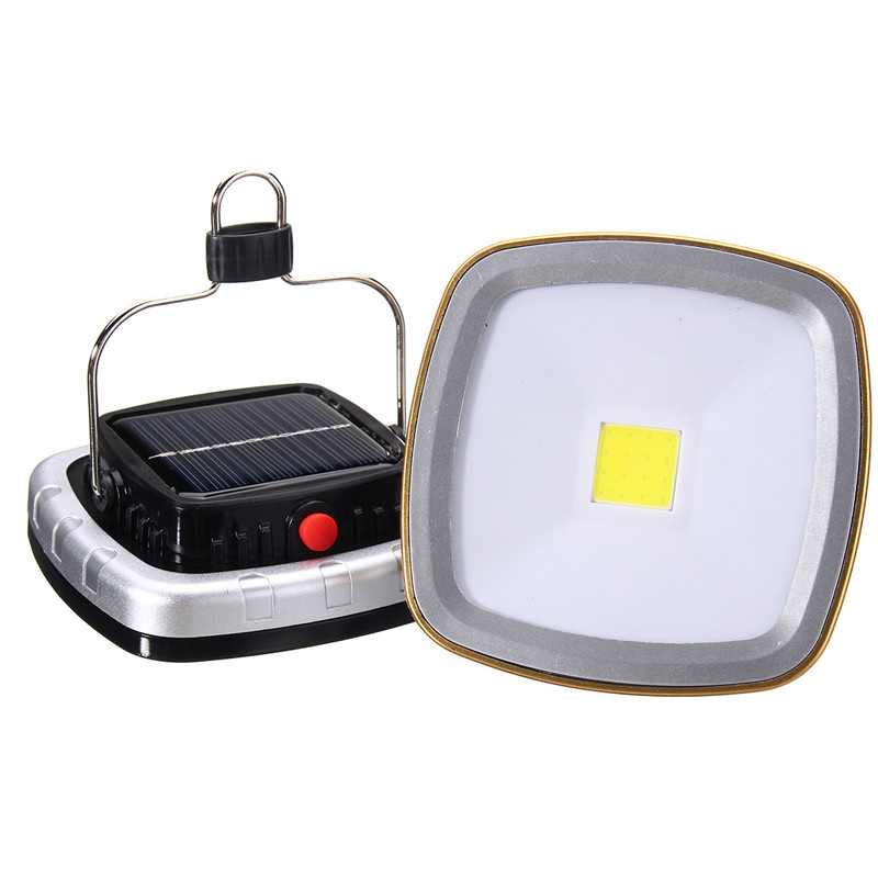 LED Camping Lantern Solar USB Rechargeable Tent Lamp Emergency Light for Outdoor Hiking Garden CLH@8
