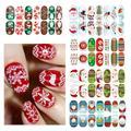 1 Hoja de Navidad Pegatinas de Uñas Nail Art Sticker Transferencia de Agua Tatuajes de Manicura de Uñas Consejos Decoración Maquillaje Herramienta RP1-5
