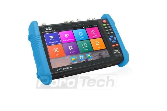 Testeur de caméra IP 7 pouces portable IPC AHD TVI CVI testeur de vidéosurveillance IPC9800 Plus avec H.265/H.264, affichage vidéo 4K multifonction-in Transmission et câbles from Sécurité et Protection    2