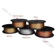 El más nuevo, Impresora 3D Filamento Metálico, 40{e3d350071c40193912450e1a13ff03f7642a6c64c69061e3737cf155110b056f} De Contenido de Metal Filamentos-Rojo de Cobre/Latón/Bronce/Cobre/de aluminio, 1.75/3mm