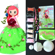 Fluffy Slime Supplies DIY Colorful Foam Clay Set Doll Western Princess With Dress And Clay School Handwork Teaching Material
