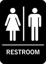 toiletwcbathroomlavatory signsymbolmark5x7 - Bathroom Symbol