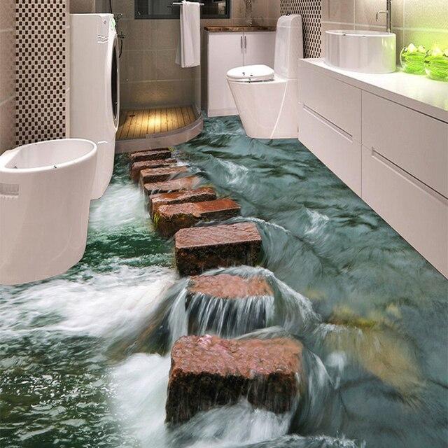 Online-Shop 3D Boden Fliesen Wand Papier Sticker Klassische Stein - 3d badezimmerboden