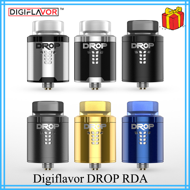 Original Digiflavor Drop RDA BF squonk 510 pin 24mm electronic cigarette tank large post-holes Stepped airflow design VS zeus x