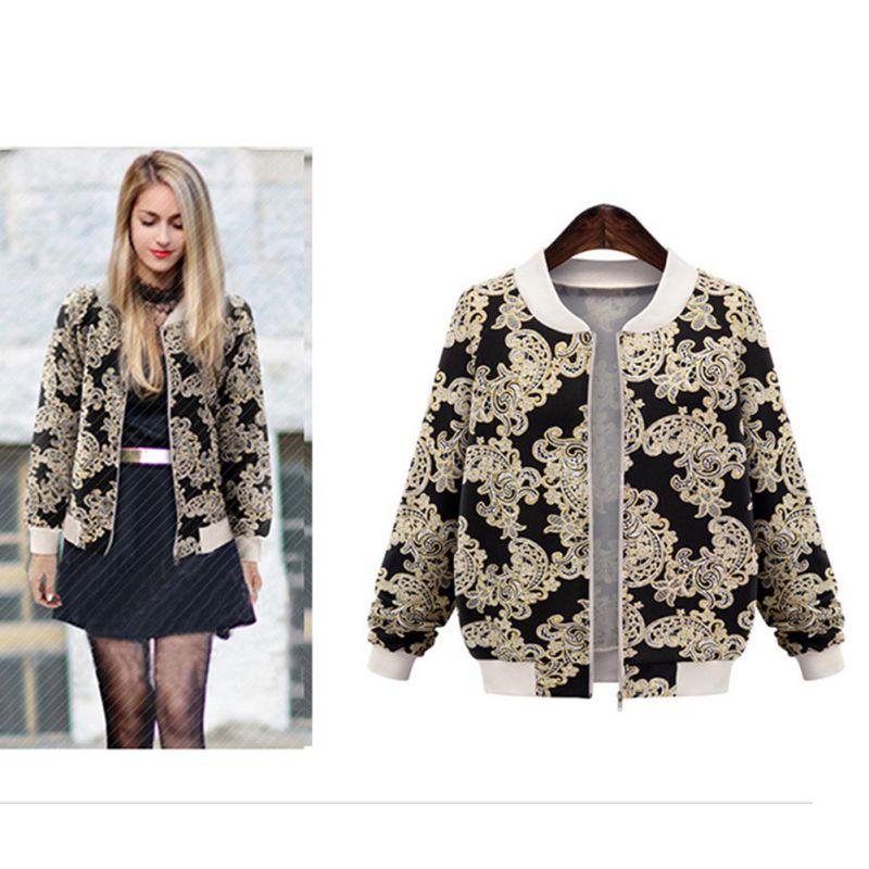 WEIXINBUY Vintage embroidery   basic     jacket   coat Autumn 2019 street satin bomber   jacket   Women baseball   jackets   sukajan