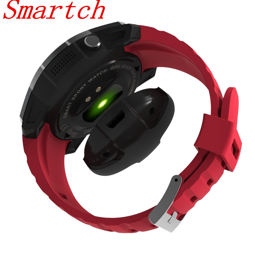 Smartch Smart Watch S958 Heart Rate Monitor Pedometer Barometer With GPS SIM Card Track Display Wrist Smart Watch For Android IO smart baby watch q60s детские часы с gps голубые