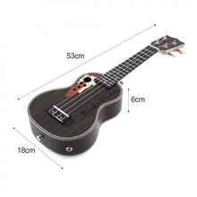 21 Inch Spruce EQ Soprano Ukelele 15 Frets Electroacoustic 4 Strings Guitar with Built-in EQ Pickup цена 2017