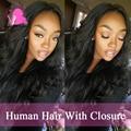 Rosa Brazilian Virgin Hair Body Wave With Closure Cheap 3 Bundles Human Hair With Closure 7A Brazilian Virgin Hair With Closure
