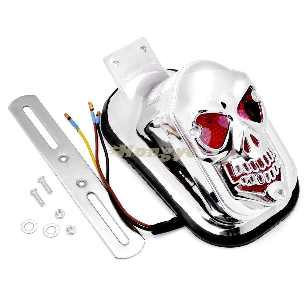 ღ ღRpmmotor motocicleta personalizado cráneo luz de freno de cola ...