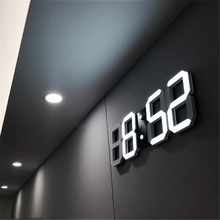 LED Digital Wall Clock 3D Large Date Time Celsius Nightlight Display Table Desktop Clocks Alarm From Living Room D30